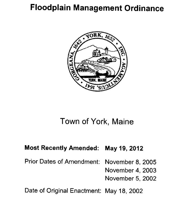 Floodplain Management Ordinance