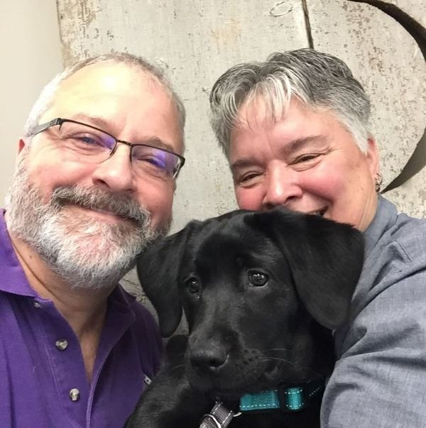 013 With Kathy Newell and her pup Ursa 2018-05-09