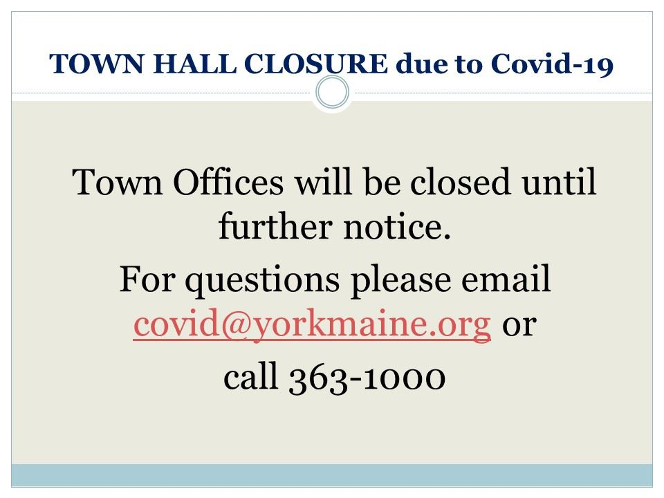 Town hall closure
