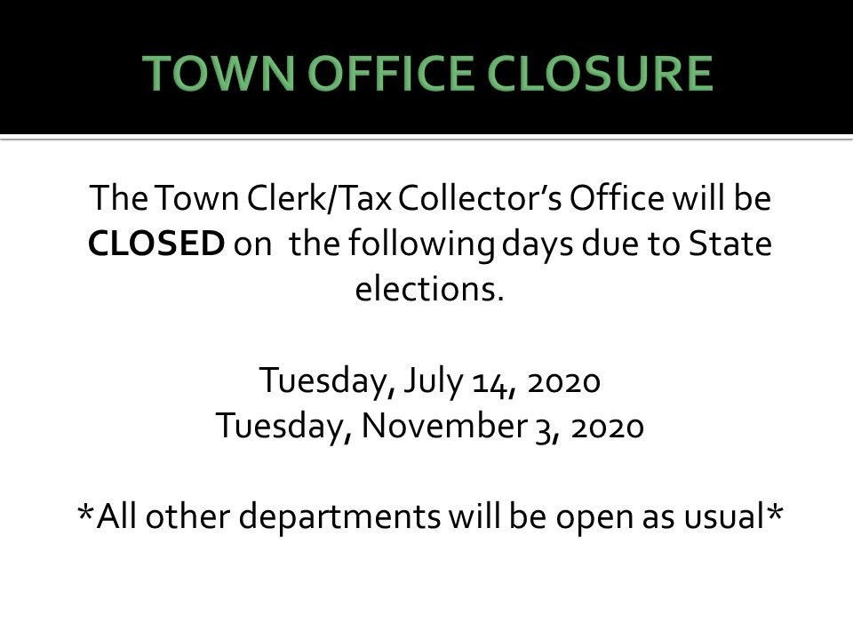 Town Closure updated