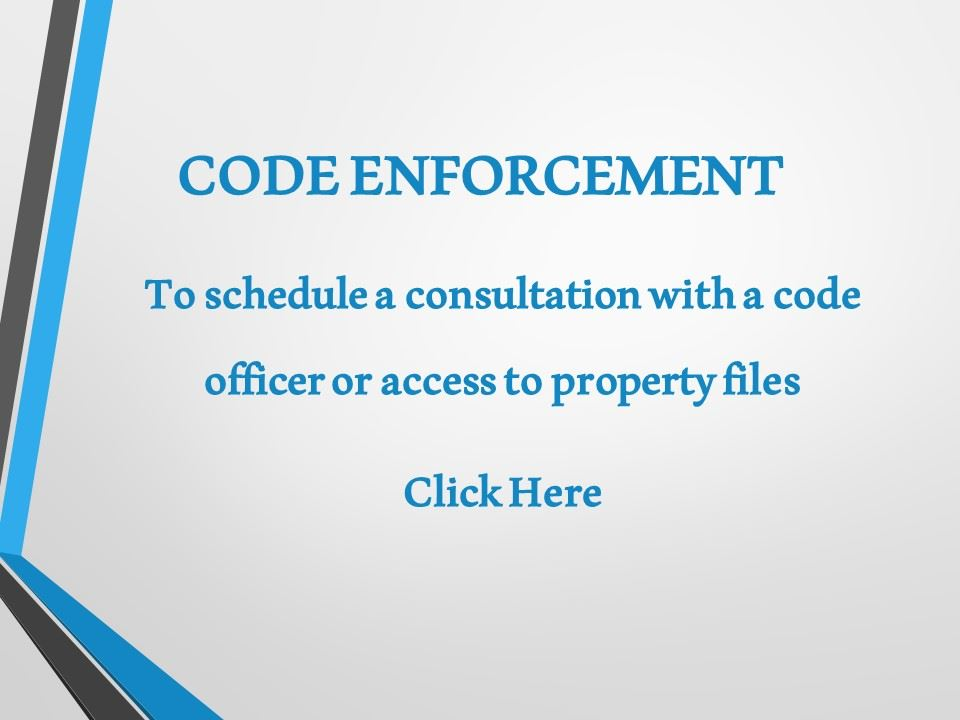 Code enforcement july 28