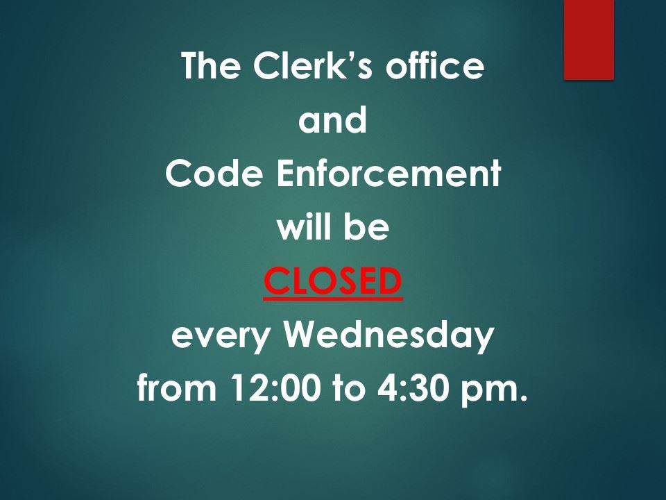 clerk and code wed