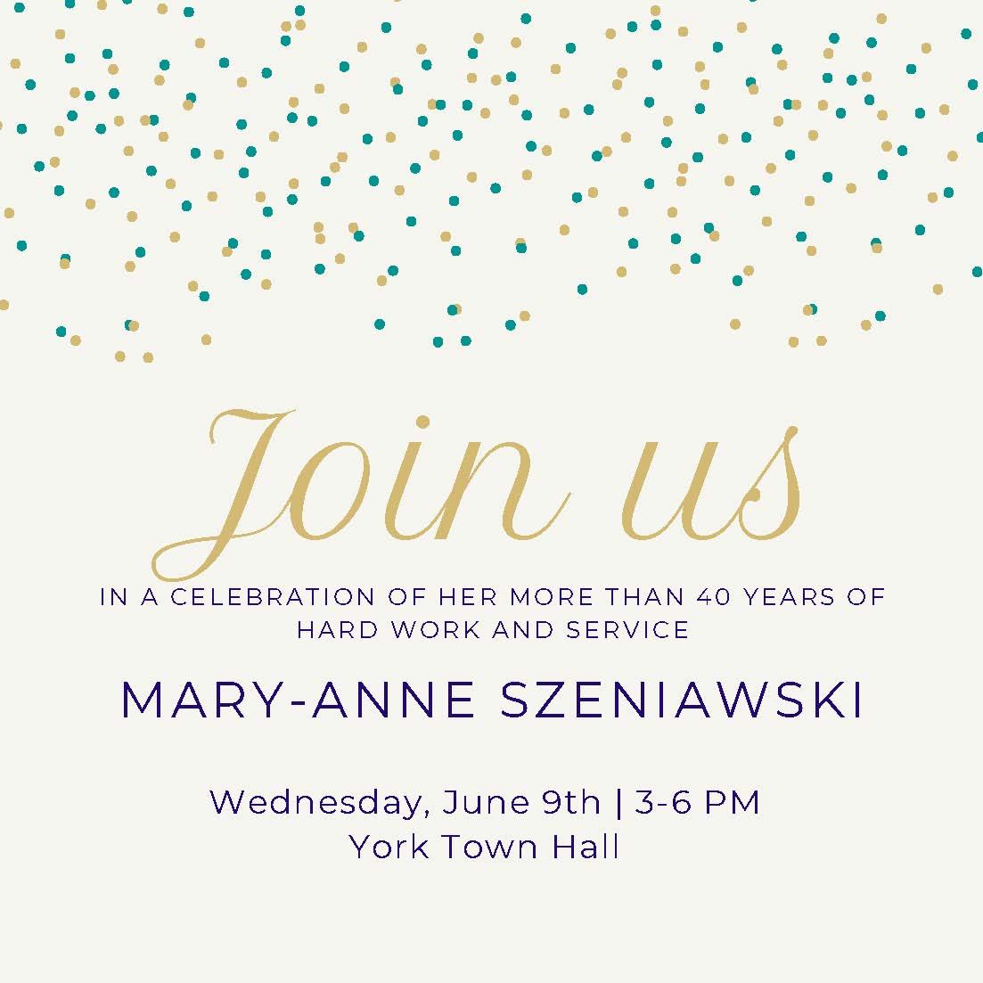 Mary-Anne Retirement Party Invitation